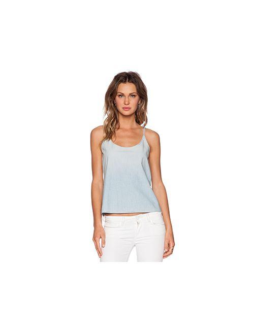 J Brand | Женская Синяя Майка На Бретелях Денимовая Рубашка Hope
