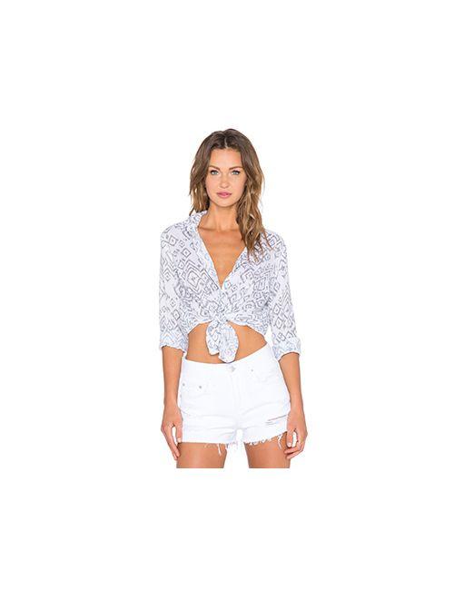 Bella Dahl | Женская Белая Рубашка С Застёжкой На Пуговицах