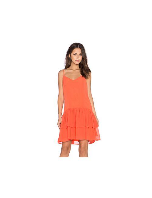 BCBGeneration | Женское Оранжевое Платье С Завязкой Сзади