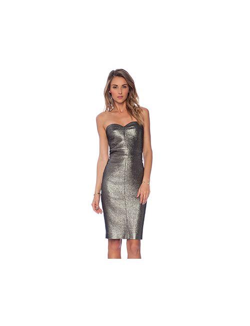 Trina Turk | Женское Металлический Бронзовое Платье Volare