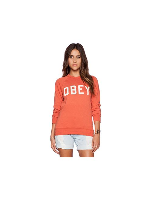 Obey | Женские Оранжевые Свитшот Collegiate