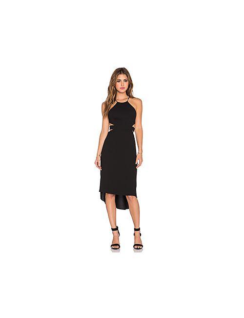 Halston Heritage | Женское Чёрное Платье Холтер