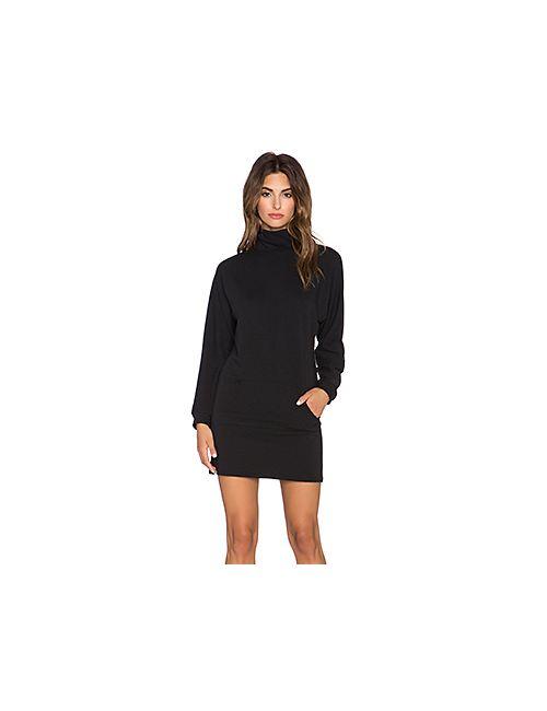 Clayton | Женское Чёрное Платье С Воротником-Водолазка