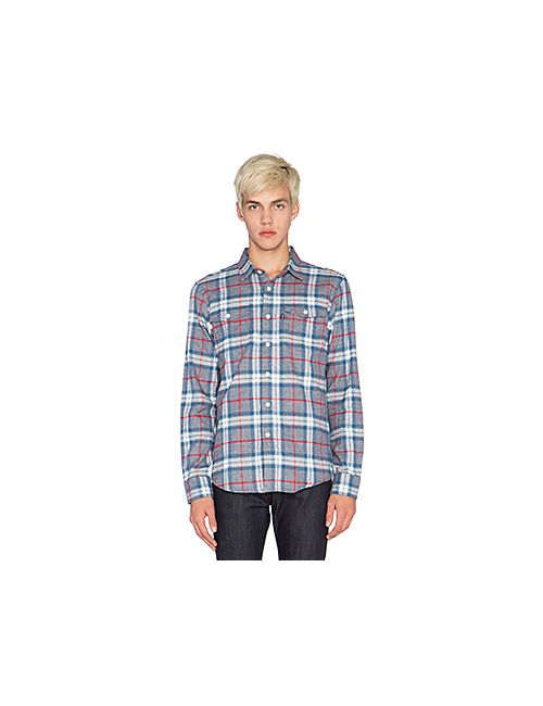 Huf | Мужская Синяя Рубашка Heavy Weight Flannel