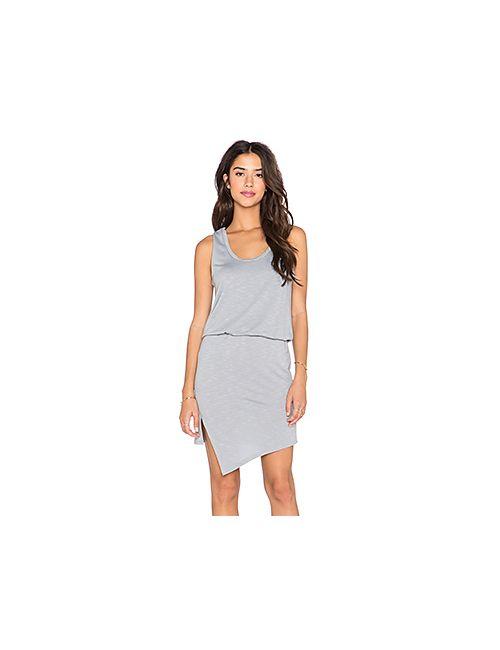 Lanston | Женское Серое Летнее Платье С Асимметричным Подолом