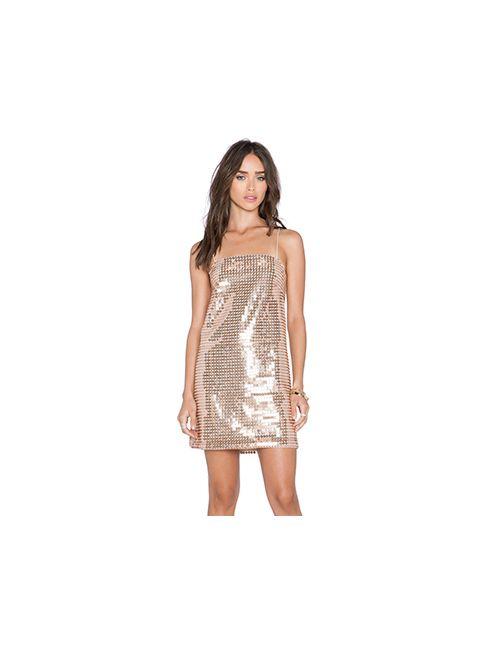 Whitney Eve | Женское Золотое Платье Escalante