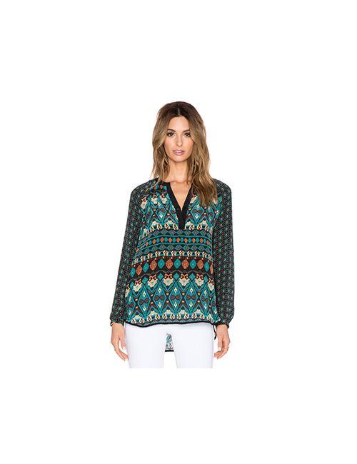 Tolani | Женская Зелёная Блузка Jill