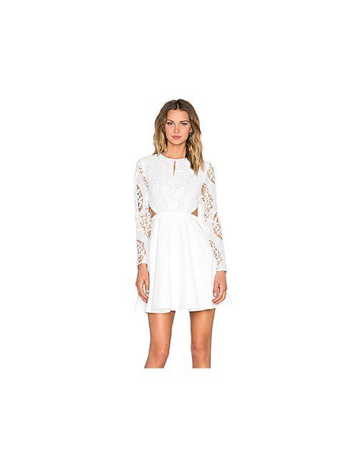 Line & Dot | Женское Белое Кружевное Платье Mon Cherie