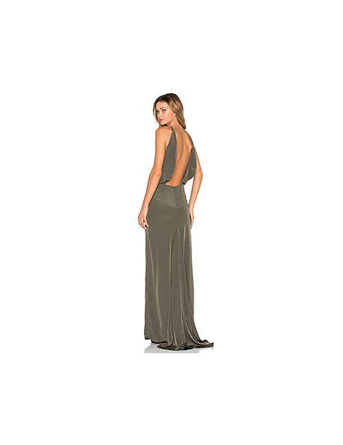 Assali | Женское Зелёное Платье Paola