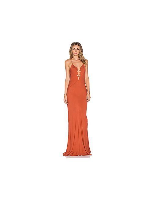 Acacia Swimwear | Женский Оранжевый Макси Платье Brawa