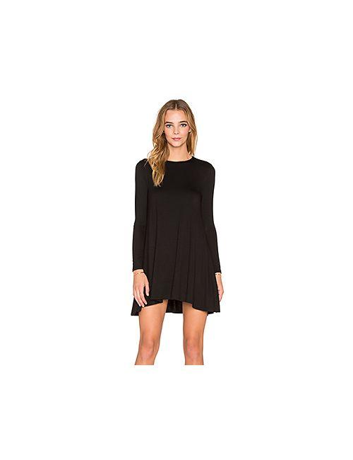 De Lacy | Женское Чёрное Платье С Длинным Рукавом Tyler