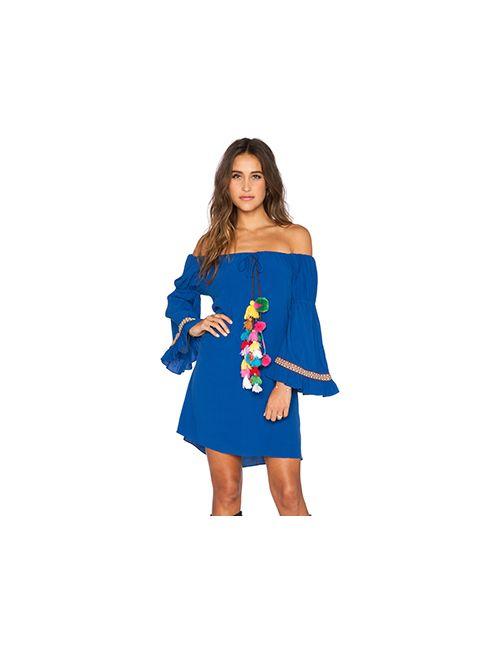 T-Bags LosAngeles   Женское Синее Платье Tulum