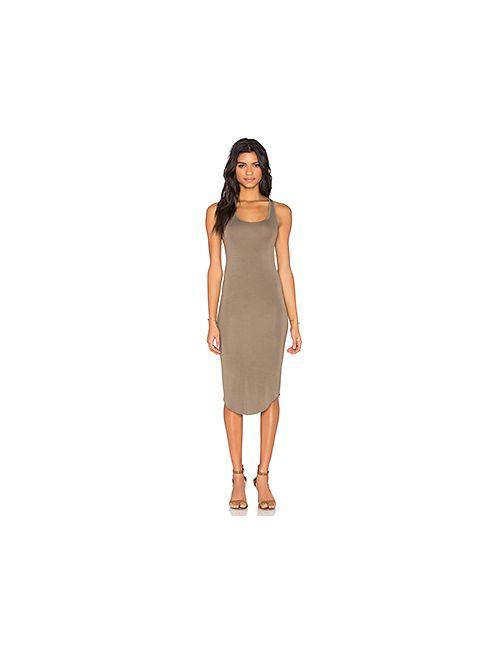 BLQ BASIQ | Женское Оливковое Платье Миди