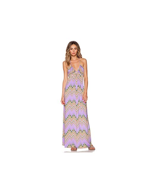 T-Bags LosAngeles | Женский Фиолетовый Макси Платье Braided Halter