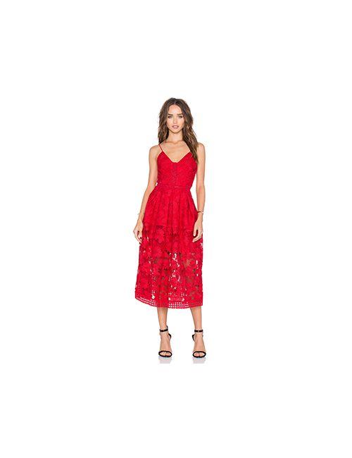 Nicholas | Женское Красное Платье Rouleau