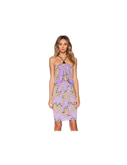 T-Bags LosAngeles | Женское Фиолетовое Платье Tie Front Halter