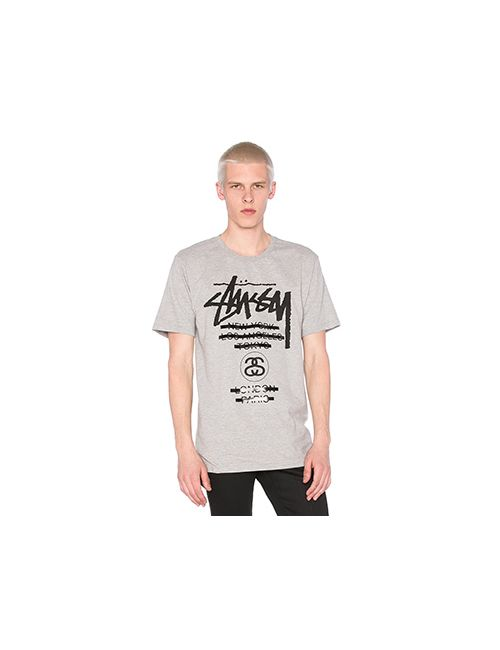 Stussy | Мужская Серая Футболка Wt Taped