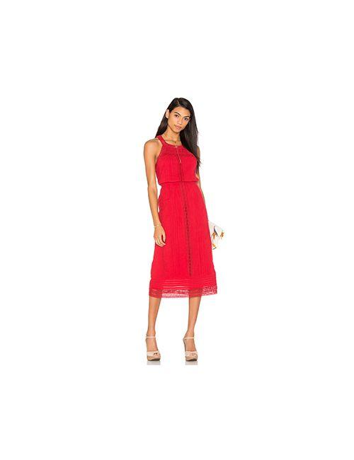 Joie | Женское Красное Платье Миди Dance
