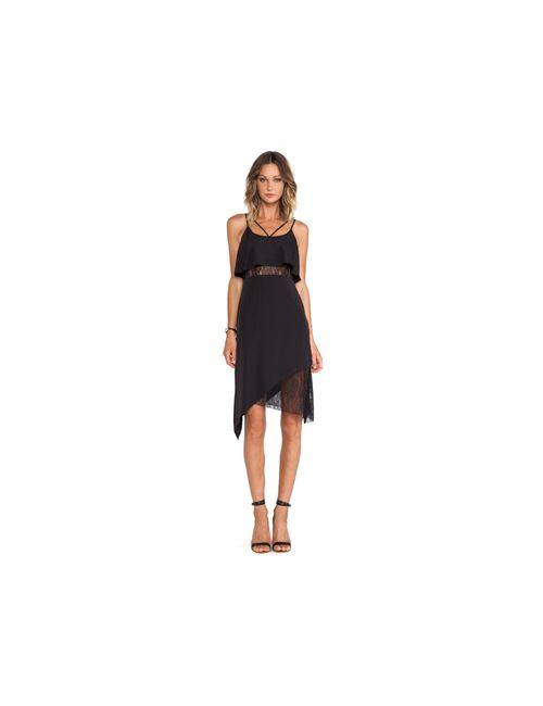 BCBGeneration | Женское Чёрное Платье-Майка С Асимметричным Подолом