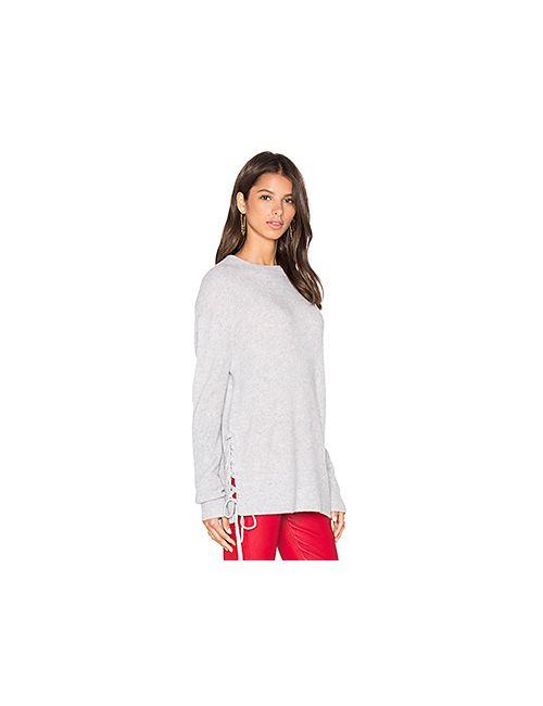 RTA | Женское Серый Arianne Lace Side Sweatshirt