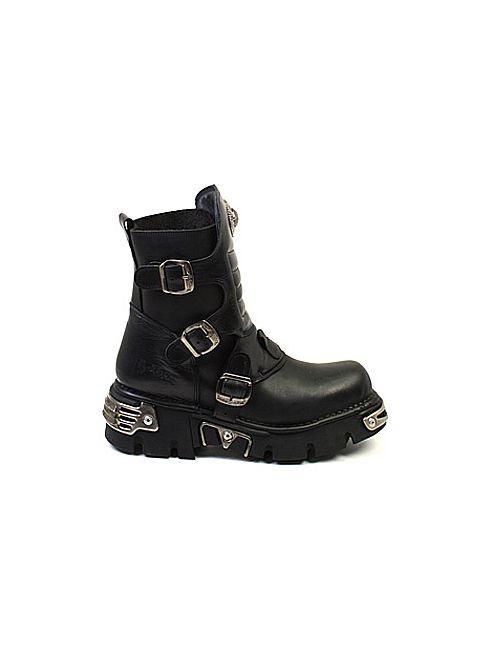 Newrock | Женские Чёрные Ботинки