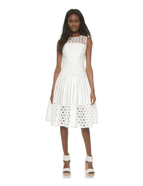Milly | Женское Платье Illusion Filament Со Встречной Складкой