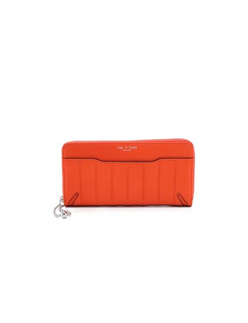 Rag & Bone | Женский Оранжевый Стеганый Кошелек Crosby Continental