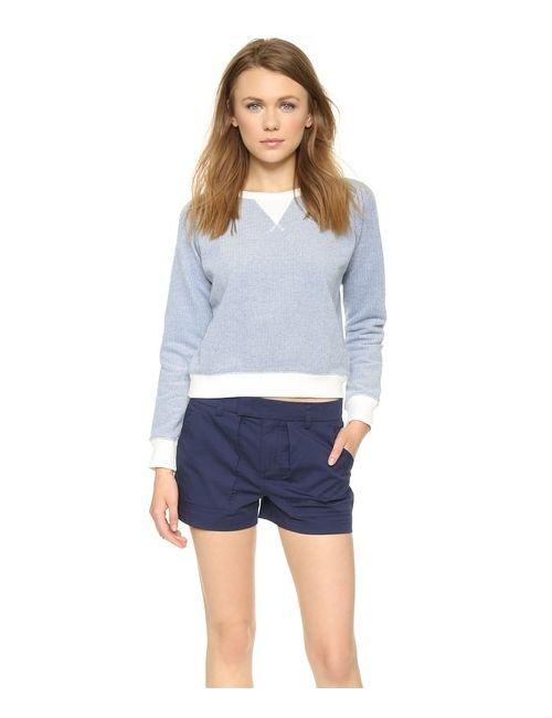 Solid & Striped   Голубой Пуловер Из Махрового Трикотажа
