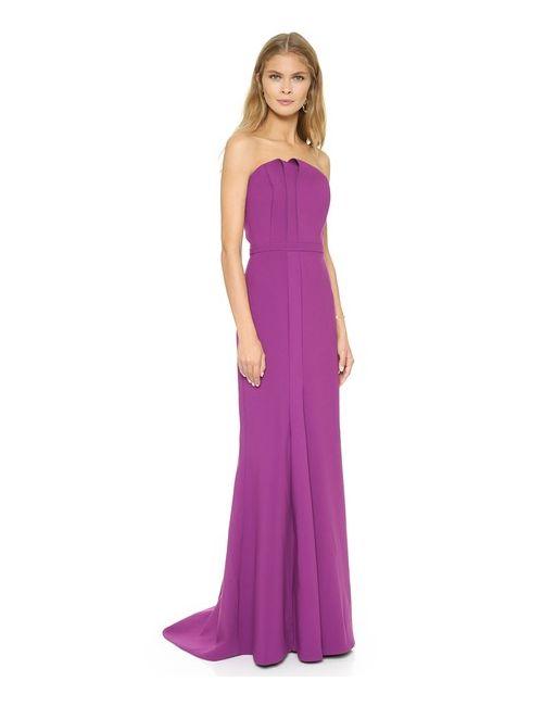 Halston Heritage | Женское Вечернее Платье Без Бретелек С Отложным Элементом