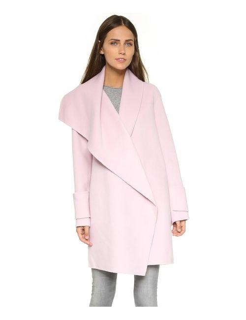 Vince | Женское Пальто С Драпированным Вырезом