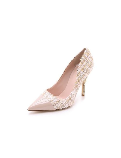 Kate Spade New York | Женские Многоцветные Туфли-Лодочки Lacy Из Твида С Блестящим Каблуком