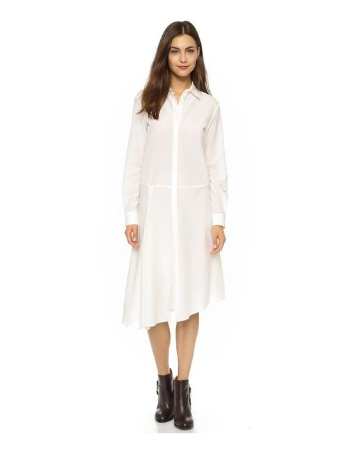 Mcq Alexander Mcqueen | Женское Золотое Платье-Рубашка С Драпировкой
