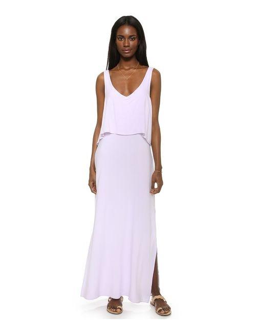 Splendid | Женское Фиолетовое Макси-Платье Mediterranean