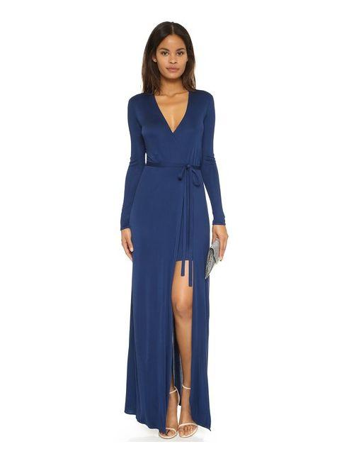 ISSA | Женское Синее Длинное Платье Antonia