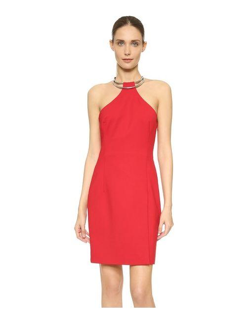 Kaufmanfranco | Женское Красное Платье С Кольцом И Американской Проймой