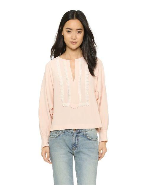 See By Chloe | Женская Розовая Блуза С Вышивкой