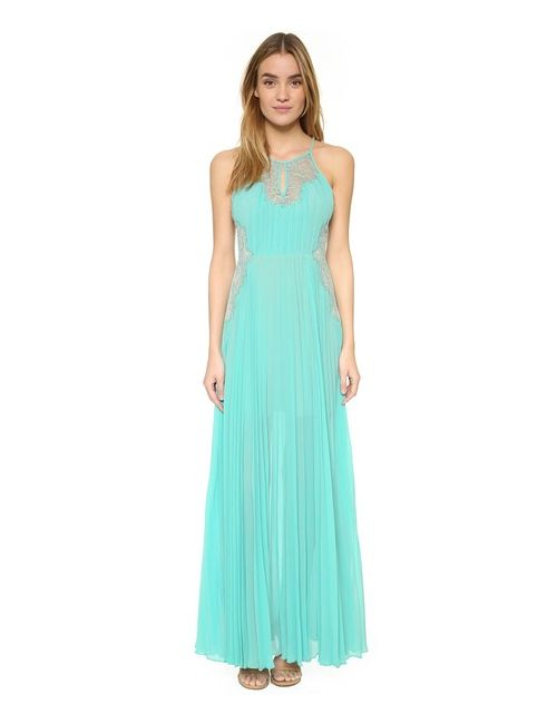 BCBGMAXAZRIA | Женское Аква Вечернее Платье Misty