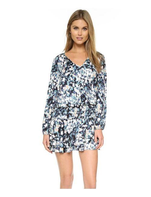 MISA | Женское Цветочное Мини-Платье С Каплевидными Вырезами