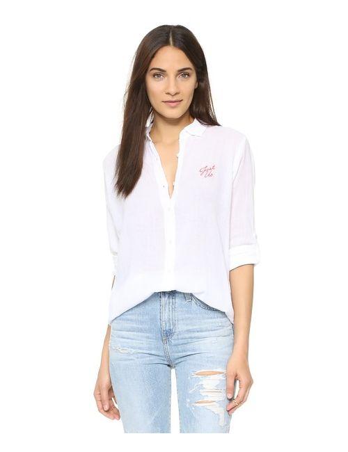 Sundry | Женская Белая Свободная Рубашка Just Us