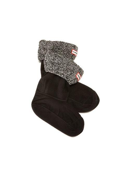 Hunter Boots | Женские Чёрные Носки С Отделкой В Виде Косичек Под