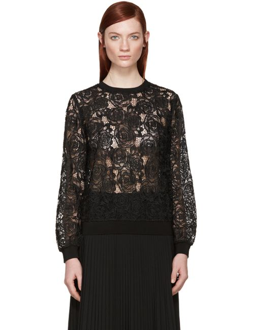 Mcq Alexander Mcqueen | Черный Black Lace Crewneck