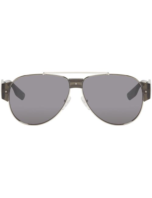 Mcq Alexander Mcqueen | Серебристый Silver Aviator Sunglasses