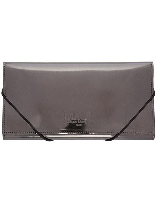MM6 by Maison Margiela | Серый Mm6 Maison Margiela Gunmetal Metallic Wallet