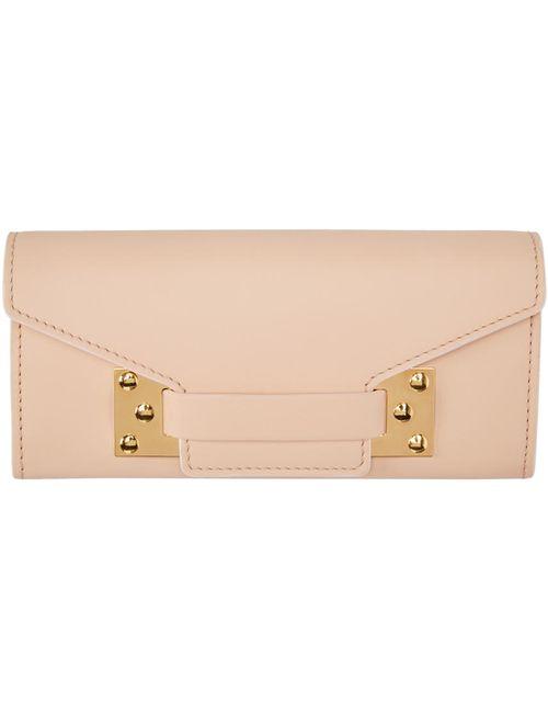 Sophie Hulme   Розовый Pink Leather Envelope Wallet