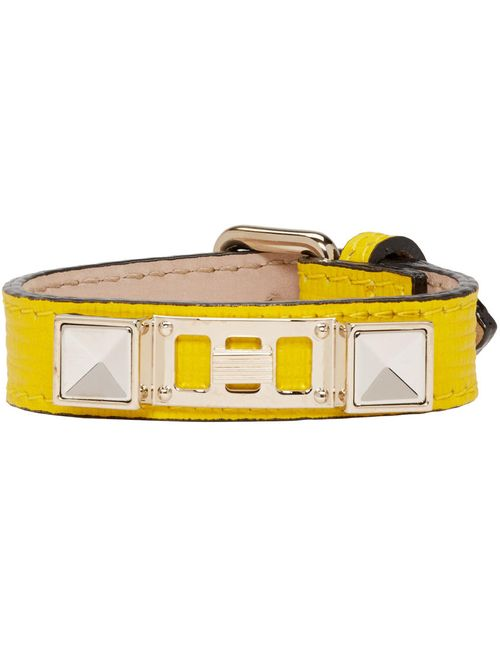 Proenza Schouler | Желтый Yellow Leather Ps11 Single Wrap Bracelet