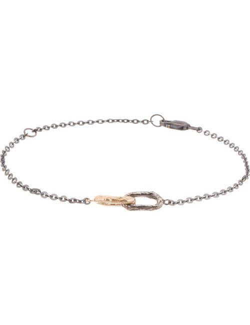PEARLS BEFORE SWINE | Золотой Gold And Gunmetal Double Link Bracelet
