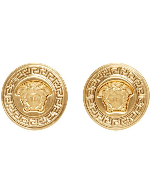 Versace | Золотой Gold Medusa Medallion Earrings