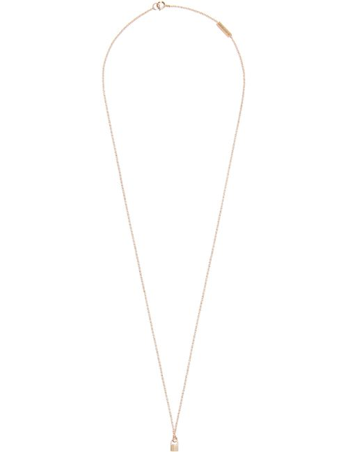 LAUREN KLASSEN | Золотой Gold Tiny Padlock Necklace