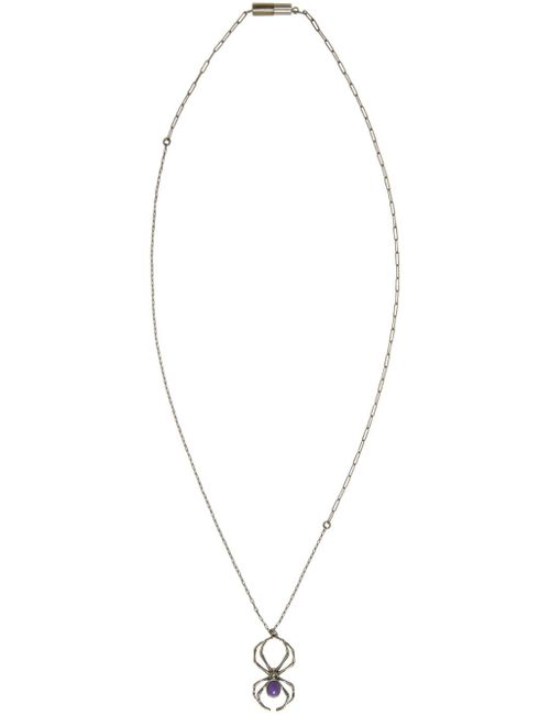 Lanvin | Серебристый Gunmetal And Purple Spider Necklace