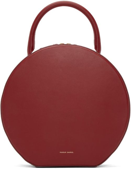 MANSUR GAVRIEL | Rocco & #47; Rocco Red Leather Circle Bag